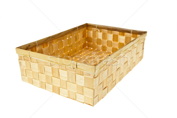 Wicker Box isolated on white background Stock photo © pinkblue