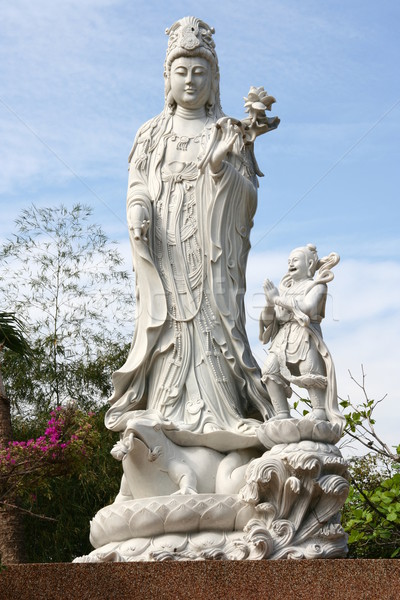 White Marble Quan Yin Statue Stock photo © pinkblue