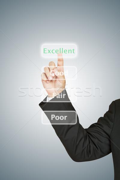Imprenditore ottimo pulsante business felice Foto d'archivio © pinkblue