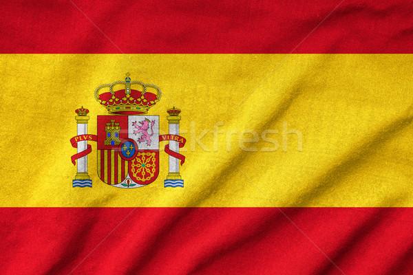 Zdjęcia stock: Hiszpania · banderą · tekstury · podpisania · tkaniny · tapety