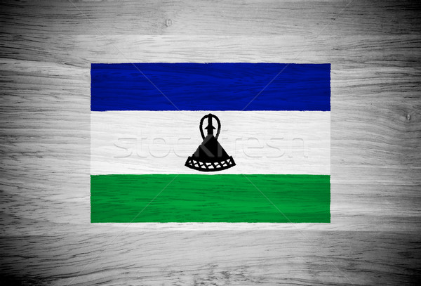 Lesotho banderą struktura drewna tekstury ściany charakter Zdjęcia stock © pinkblue