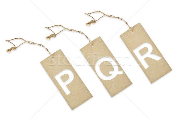 Carta marrone tag taglio carta design Foto d'archivio © pinkblue