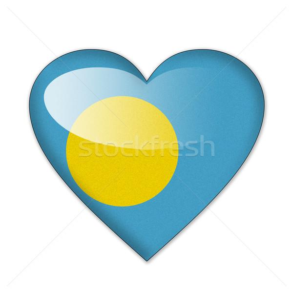 パラオ フラグ 心臓の形態 孤立した 白 愛 ストックフォト © pinkblue