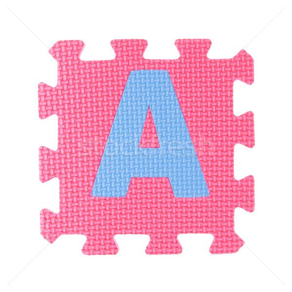Alfabet speelgoed stuk geïsoleerd witte kinderen Stockfoto © pinkblue