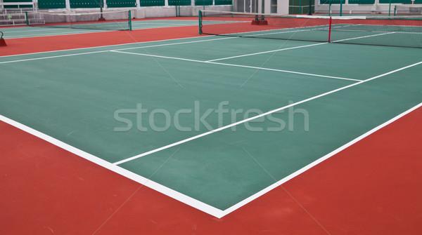 Teniszpálya sport fitnessz nyár mező űr Stock fotó © pinkblue