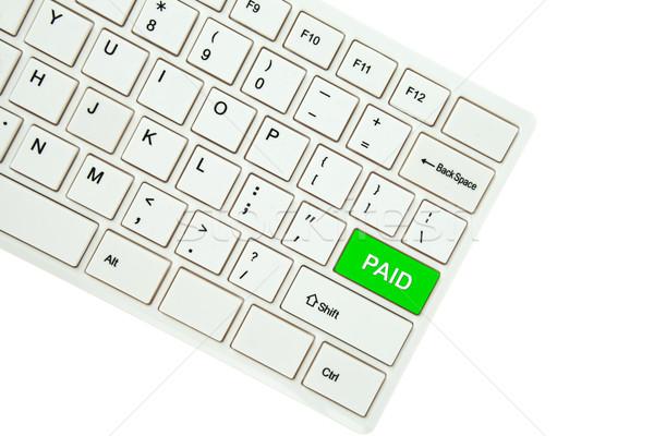 Płatny odizolowany biały komputera biuro Zdjęcia stock © pinkblue