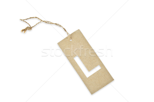 Brown paper tag with letter L cut Stock photo © pinkblue