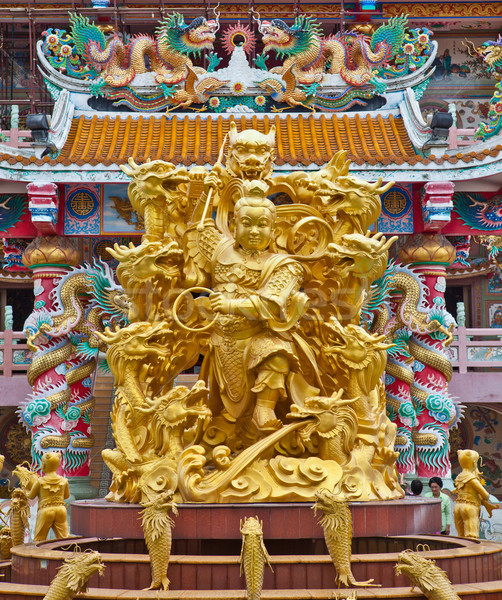 Sculpture of Naja in Chinese Temple Stock photo © pinkblue
