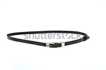 Black woman belt isolated on white background Stock photo © pinkblue