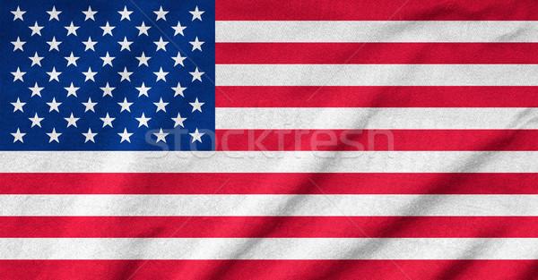 Bayrak doku arka plan star kumaş duvar kağıdı Stok fotoğraf © pinkblue