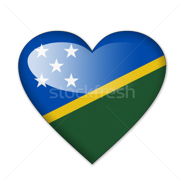 Solomon Islands flag in heart shape isolated on white background Stock photo © pinkblue