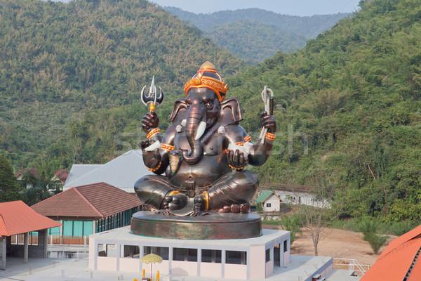 Gigante dio top costruzione tempio Thailandia Foto d'archivio © pinkblue