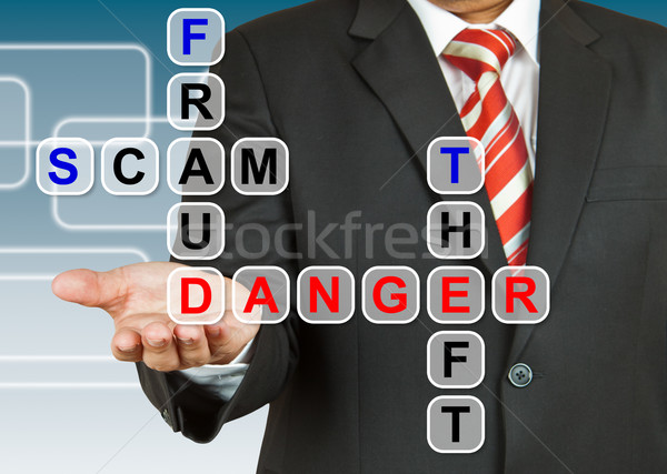 Businessman with the danger of fraud, scam, and theft Stock photo © pinkblue