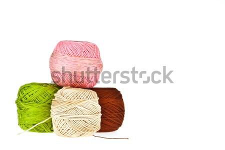 Stockfoto: Kleurrijk · wol · achtergrond · weefsel