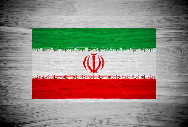 Stock fotó: Irán · zászló · fa · textúra · textúra · fal · természet