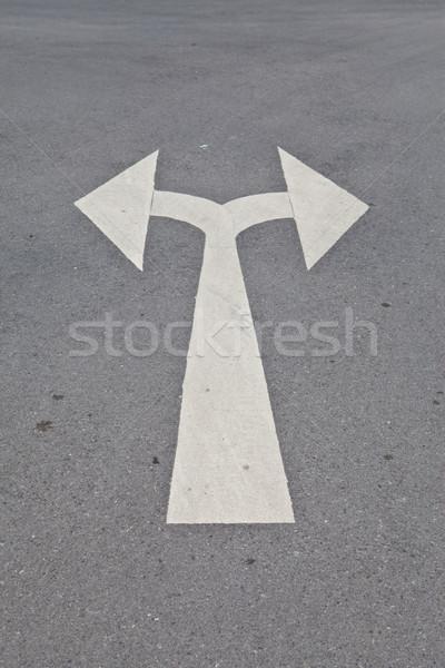 улице дороги стрелка направлении пейзаж сеть Сток-фото © pinkblue