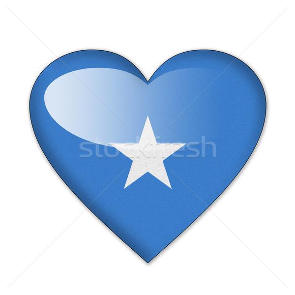 Somalie pavillon forme de coeur isolé blanche amour Photo stock © pinkblue
