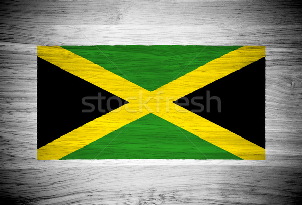 Stockfoto: Jamaica · vlag · houtstructuur · textuur · muur · natuur