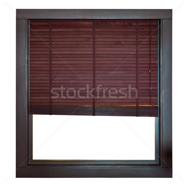 Marco de ventana bambú ciego madera casa Foto stock © pinkblue