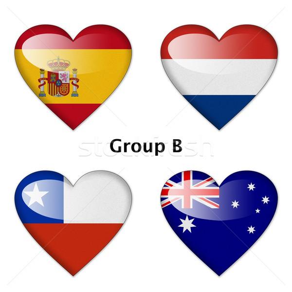 ストックフォト: グループ · スペイン · オランダ · チリ · オーストラリア · ファイナル