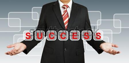 Biznesmen domu pomysł działalności człowiek świetle Zdjęcia stock © pinkblue