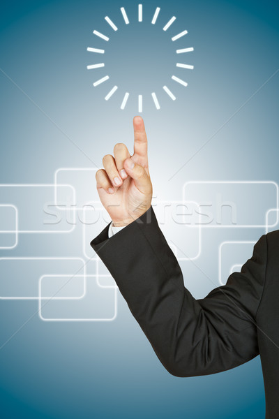 Zakenman cirkel business klok licht technologie Stockfoto © pinkblue