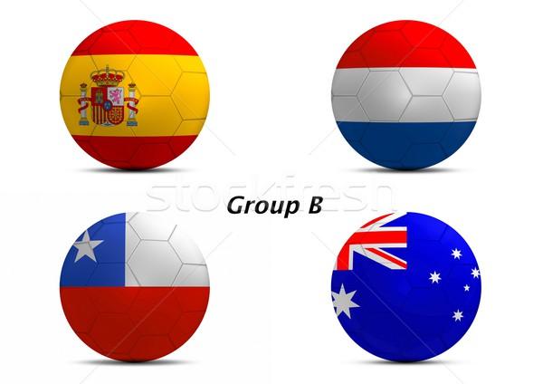 Csoport Spanyolország Hollandia Chile Ausztrália végső Stock fotó © pinkblue