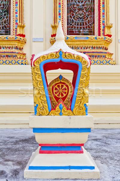 Grens fiche tempel bloem gebouw bouw Stockfoto © pinkblue