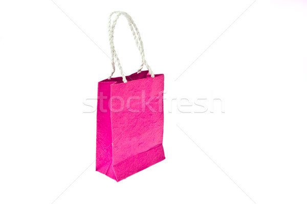 Pink mulberry paper bag isolated on white background Stock photo © pinkblue