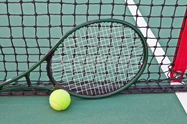 теннисный корт мяча ракетка весны фон области Сток-фото © pinkblue