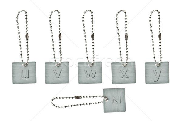 Stock fotó: Ezüst · fém · kulcs · címke · kicsi · levél
