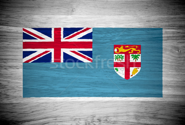 Fiji bandiera wood texture albero muro natura Foto d'archivio © pinkblue