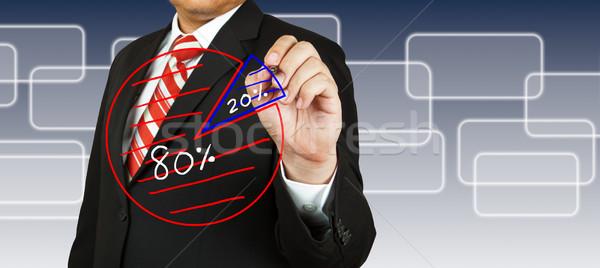 Foto stock: Empresário · desenho · negócio · mercado · futuro