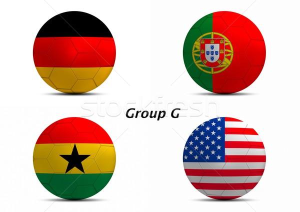 グループ ドイツ ポルトガル ガーナ 米国 ファイナル ストックフォト © pinkblue