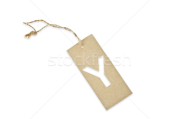 Brown paper tag with letter Y cut Stock photo © pinkblue