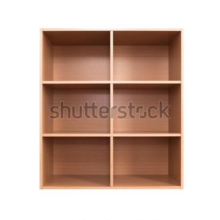 Pusty szafka odizolowany biały drewna Zdjęcia stock © pinkblue