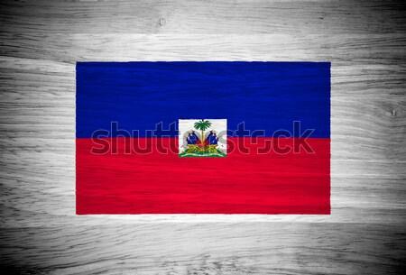 Сток-фото: Гаити · флаг · текстура · древесины · текстуры · стены · природы
