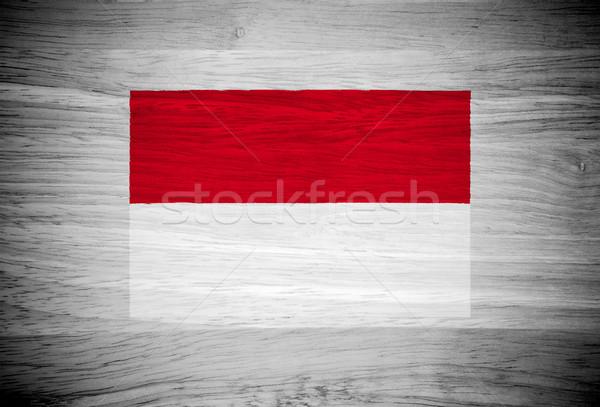 Indonézia zászló fa textúra textúra fal természet Stock fotó © pinkblue