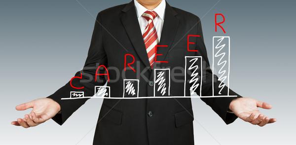 Stockfoto: Zakenman · carriere · grafiek · business · ontwerp · technologie