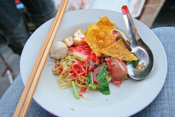Traditioneel thai yen groenten zeevruchten Stockfoto © pinkblue