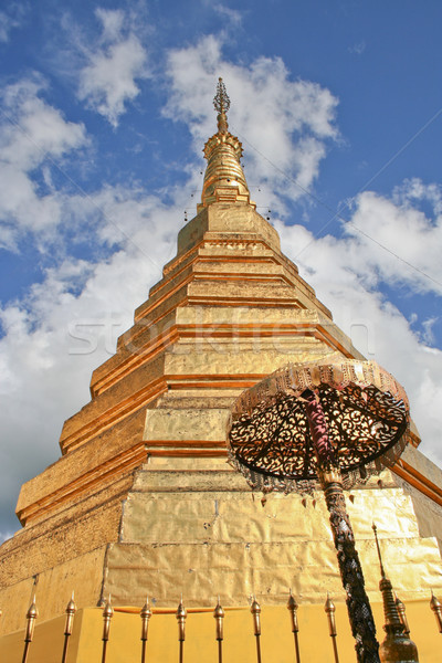 Golden pagoda at Doi Suthep, Thailand Stock photo © pinkblue