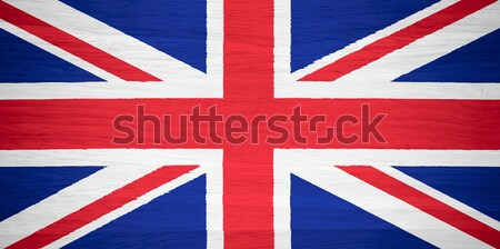 Ruffled UK Flag Stock photo © pinkblue