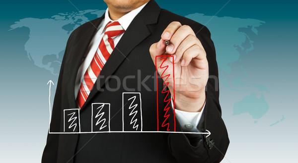 Сток-фото: мужчины · стороны · рисунок · графа · бизнеса · карандашом