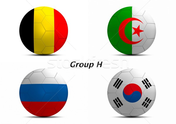 Group H, Belgium, Algeria, Russia, and South Korea Stock photo © pinkblue