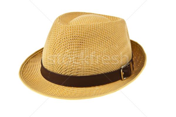 Gyönyörű hagyományos Panama kalap izolált fehér Stock fotó © pinkblue