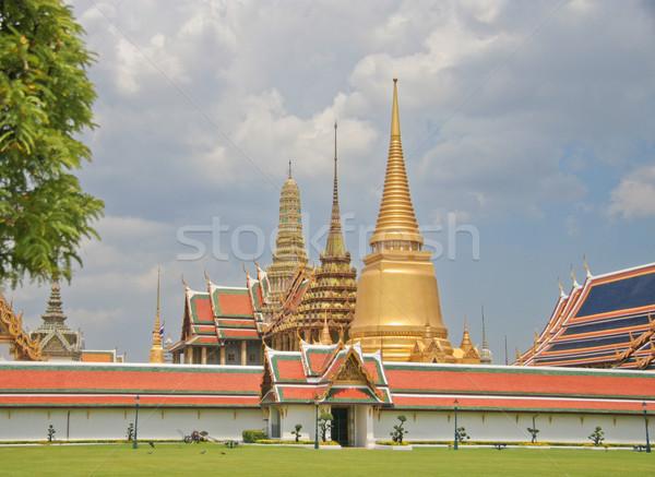 Saray Tayland Bina yaz mavi mimari Stok fotoğraf © pinkblue