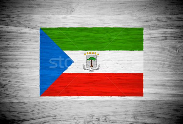 Guiné Equatorial bandeira textura de madeira árvore parede natureza Foto stock © pinkblue