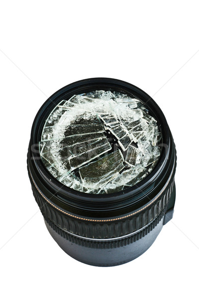 Broken camera lens Stock photo © pinkblue