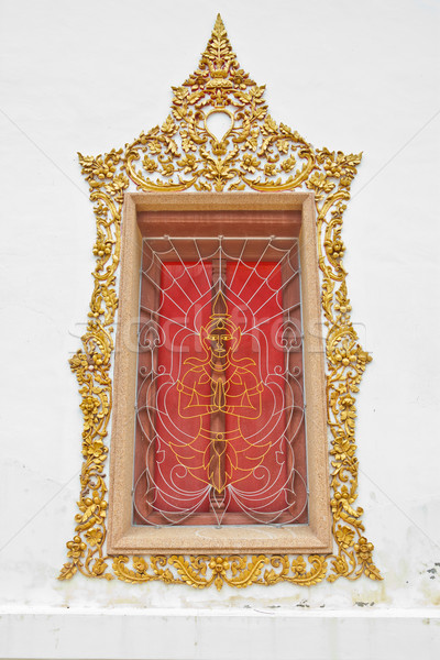Aço anjo forma templo janela textura Foto stock © pinkblue