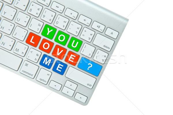Stockfoto: Liefde · me · vraag · geïsoleerd · witte